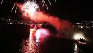 fireworks on bosphorus